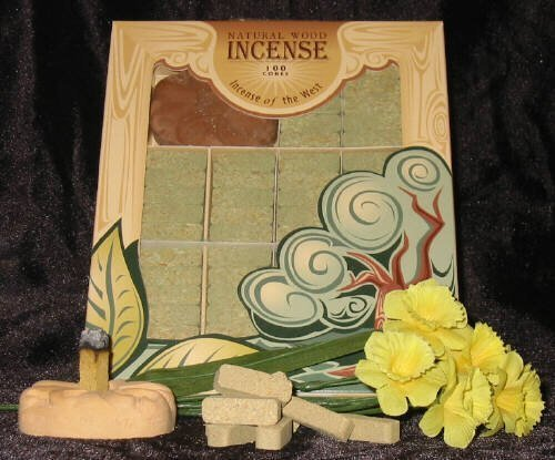Fir Balsam Wood Incense - 100 Bricks Plus Burner - Incienso De Santa Fe