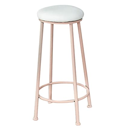 Marvelous Amazon Com Bar Stool Wrought Iron Nordic Modern Minimalist Caraccident5 Cool Chair Designs And Ideas Caraccident5Info