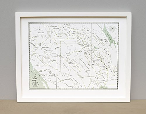 Northern California Wine Country Map Unframed Print