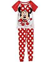 Disney Minnie Mouse Short Sleeve Pajama Sleepwear Little Girl's 3T Tight Fit
