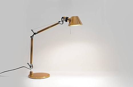Artemide tolomeo as01180023 micro gold led lampada da tavolo e14 6 w