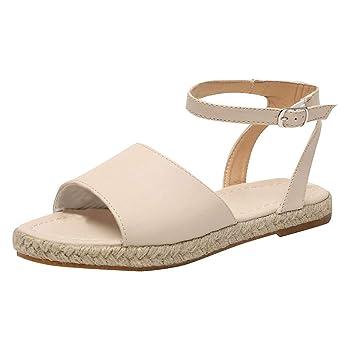 6ebd65fc67486 Amazon.com: ❤ Sunbona Women's Flats Sandals Ladies Summer Ankle ...