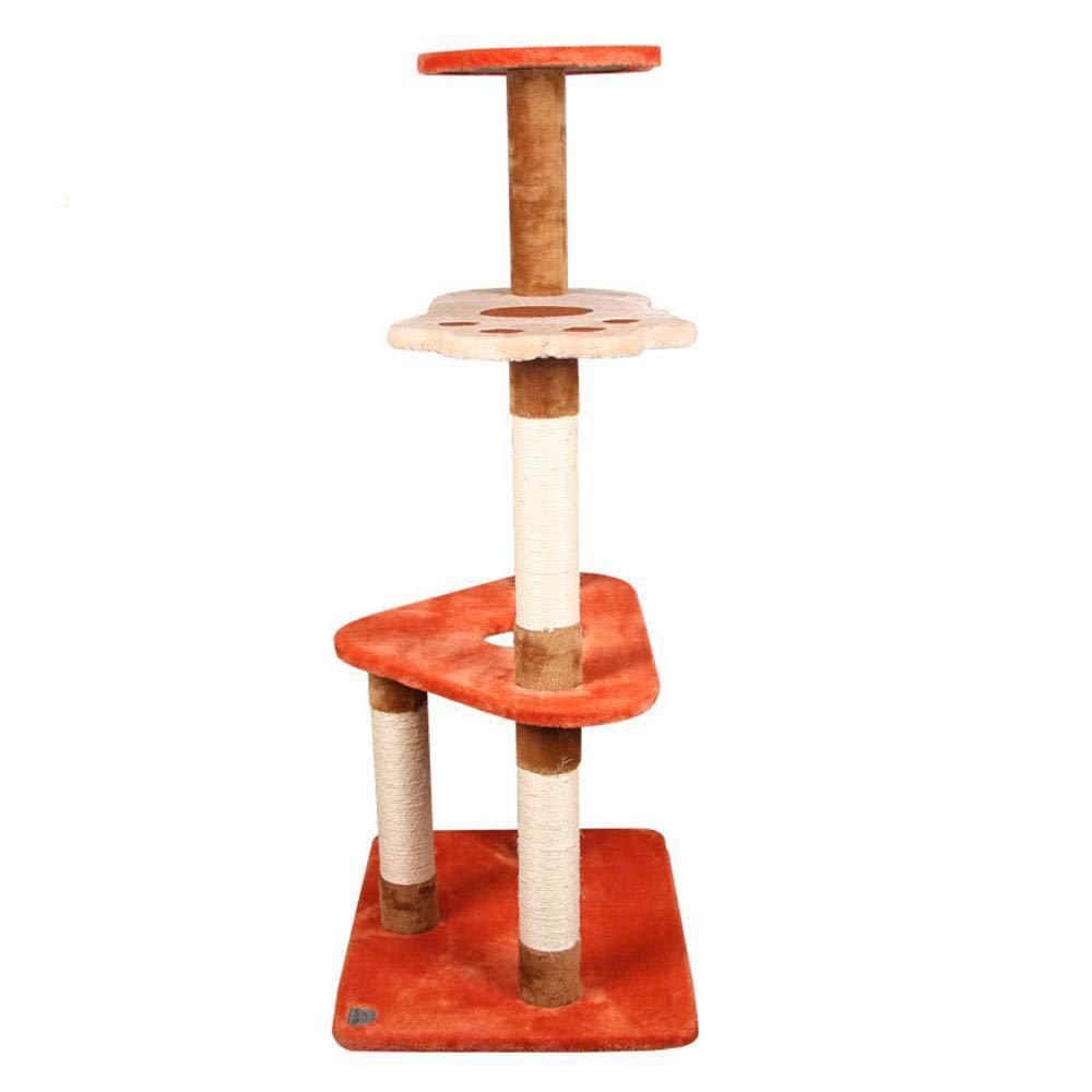 Hexiansheng Cat Climb Trees Multi-Layer Cat Diving Platform cat Grind Claw sisal cat Grab Post 60  45  117cm Plush