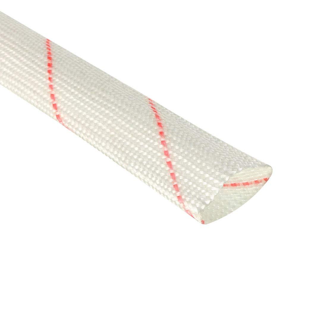 ID x 3ft Adjustable High Tempurtaure Shield Sleeving Pipe 3//8-inch uxcell Fiberglass Heat Shield Sleeve 10mm