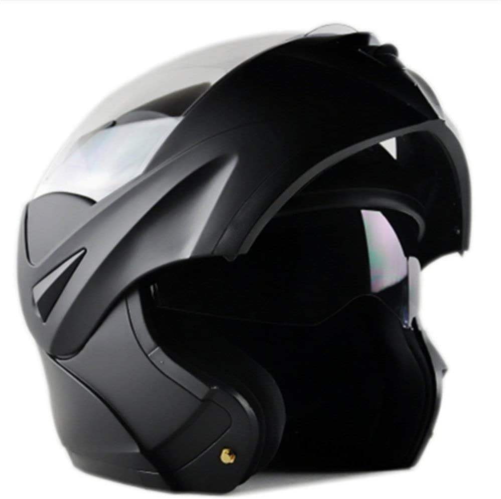 XL, WHITE ILM Motorcycle Dual Visor Flip up Modular Full Face Helmet DOT with 7 Colors