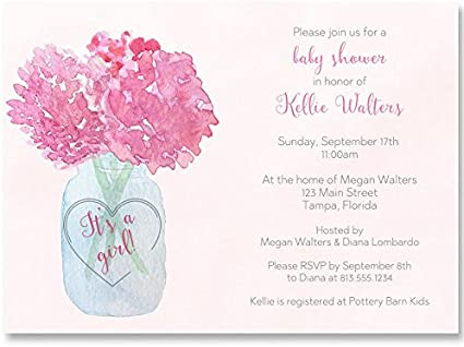 10 or Rose Baby Shower Invitations-Personnalisé
