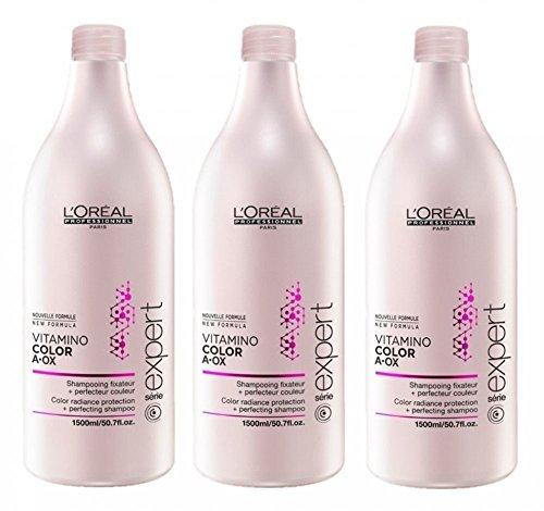 Loreal Vitamino Color A-OX Shampoo 3 x 1500 ml Serie Expert für gefärbtes Haar
