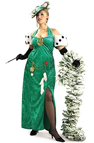 Hat Luck Lady Costume (Lady Luck Costume - Plus Size - Dress Size)