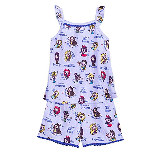 Disney Princesses Short Sleep Set for Girls Size 5/6 Multi