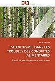 L' Alexithymie Dans les Troubles des Conduites Alimentaires, Mario Speranza, 6131583935