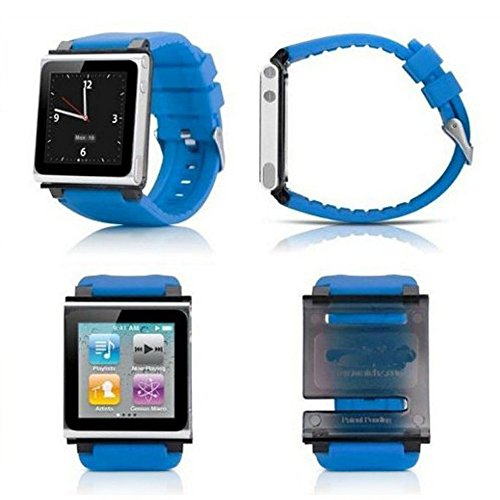 PinPle® Nice Replacement Accessory Wristband Watchband For iPod Nano 6 iWatchz Q (Blue) (Watch I Band Pod)