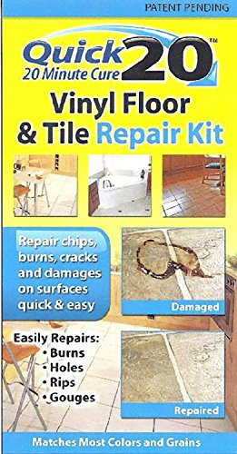 Quick 20 Vinyl Floor and Tile Repair Kit: Repairs chips, cracks, burns, and damages on vinyl and linoleum (Floor Fixing Kit)