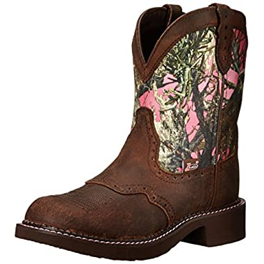 Justin Boots Women's Gypsy Collection 8  Soft Toe,Aged Bark/Pink Camo,8.5 B US