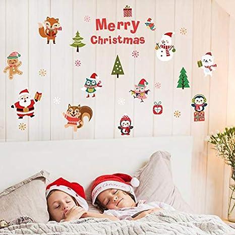 Adesivi Murali Natalizi Salotto Natale Babbo Natale Pupazzo Di Neve