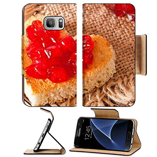 Liili Premium Samsung Galaxy S7 Flip Pu Leather Wallet Case heart shaped toast with jam IMAGE ID 17595713