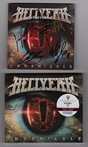 """Hellyeah""""Undeniable"""" (album) Autographed CD booklet - signed by all 5 members. Certificate of Authenticity (COA)."""