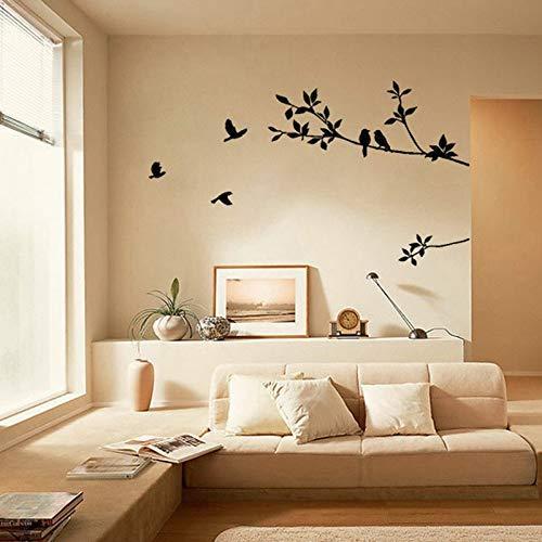 2017 Tree Branch Bird Black Art Wall Sticker Removable Vinyl Decal Bedroom Decor Stickers - Sticker Kids Room