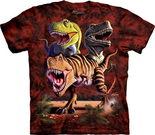 The Mountain Rex Collage T-Rex Adult T-shirt S