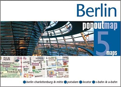 Berlin PopOut Map Popup City Street Map Of Berlin City Centre - Map of berlin city centre