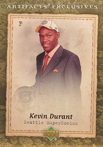 - 2007-08 Upper Deck Artifacts Exclusives - Kevin Durant - Basketball Rookie Card - RC Card #215