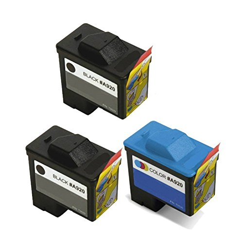 Compatible 3-pack Dell Series 1 720/A920 Black & Color Ink Cartridge (2xT0529 & T0530) ()