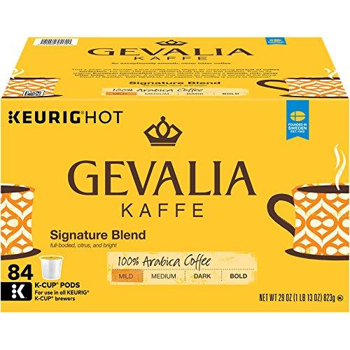 - GEVALIA Signature Blend Coffee, Mild, K-CUP Pods, 84 Count