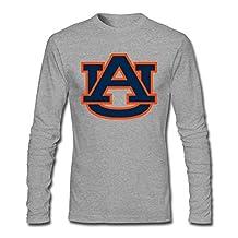 ZHENGXING Men's Auburn Football Logo Long Sleeve T-shirt