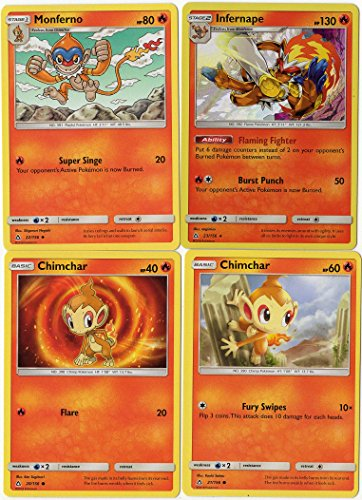 Pokemon - Evolution Set - Infernape Monferno Chimchar - Sun Moon Ultra Prism 23/156 holo rare card lot (Pokemon Chimchar)
