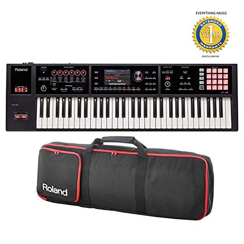 Roland FA-06 61 Workstation Keyboard with Gigbag RAM-4879 Bundle with 1 Year Everything Music Extended Warranty