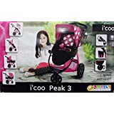 I'coo Peak 3 Doll stroller with adjustable bassinet Grow with Me