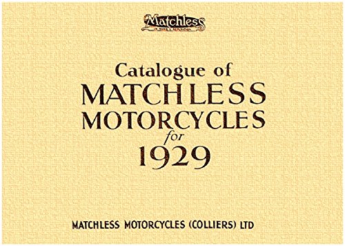 Catalogue of Matchless Motorcycles for 1929