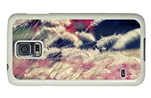 Hipster Samsung Galaxy S5 Cases retro dry grass stalks PC White for Samsung S5