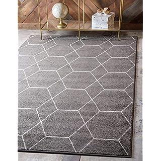 Unique Loom Area Rug, 6' 0 x 9' 0 Rectangular, Dark Gray