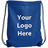 "Sunrise Identity Econo String Backpack – 100 Quantity – 1.30 Each – PROMOTIONAL PRODUCT/BULK with YOUR LOGO/CUSTOMIZED. Size: 14"" W x 11"" H."
