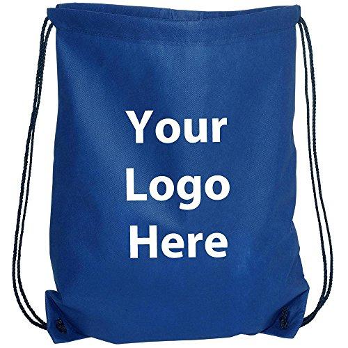 "Sunrise Identity Econo String Backpack - 100 Quantity - 1.30 Each - PROMOTIONAL PRODUCT/BULK with YOUR LOGO/CUSTOMIZED. Size: 14"" W x 11"" H."