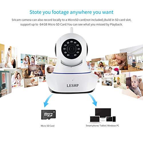 E.I.H. LESHP Indoor HD 1080P Wireless Network IP Alarm Camera LESHP Indoor HD 1080P Wireless Network IP Alarm Camera 2MP 1920 1080 Plug & Play Night Vision 4pcs Infrared LED US Plug by E.I.H. (Image #4)