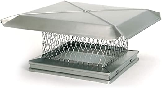Gelco 9 X 22 Stainless Steel Single Flue Chimney Cap 3 4 Mesh Home Kitchen