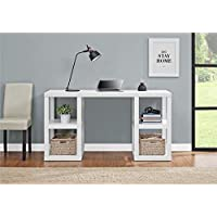 Ameriwood Home Parsons White Deluxe Desk