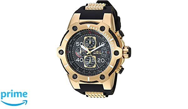 Amazon.com: Invicta Mens Bolt Stainless Steel Quartz Watch with Polyurethane Strap, Black, 30 (Model: 25468: Watches