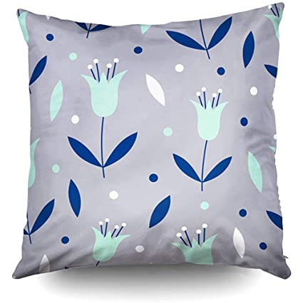 Amazon.com: XMas Pattern Mint Navy Flowers Leaves Grey ...