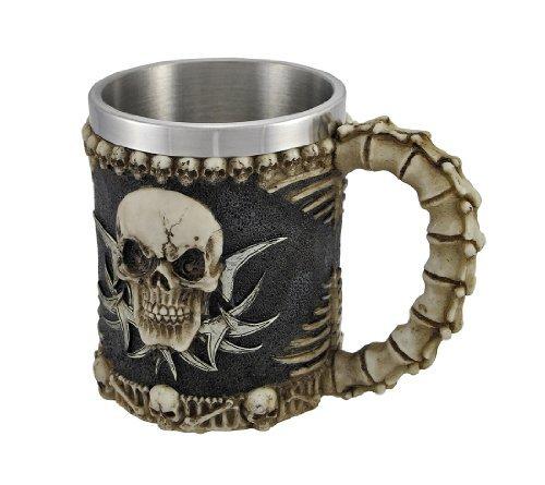 Gothic Tribal Skull Tankard Coffee Mug Cup Creepy