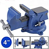 HEAVY DUTY 4' WORK BENCH VICE VISE WORKSHOP CLAMP ENGINEER JAW SWIVEL BASE TABLE