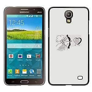 EJOY---Cubierta de la caja de protección para la piel dura ** Samsung Galaxy Mega 2 ** --Cupid del ángel del amor del corazón de San Valentín