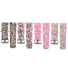 Baaletc Silicone Replacement Smart Wrist Watch Accessory Band Strap for Garmin Vivoactive HR, One Size, Printed with Pretty Floral & Paisley Designs
