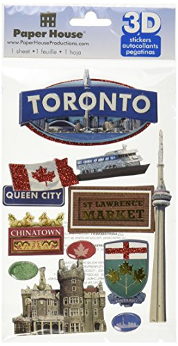 Paper House Productions STDM-0166E 3D Cardstock Stickers, Toronto (3-Pack) (Epoxy Chipboard)