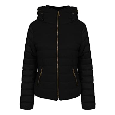 9d5848cf9 JAVOX Fashion's New women Ladies Zara Padded Quilted Puffer Bubble Zip up  jacket