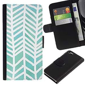 APlus Cases // Apple Iphone 6 4.7 // Abstracto Acuarela Blanco Verde Diseño // Cuero PU Delgado caso Billetera cubierta Shell Armor Funda Case Cover Wallet Credit Card