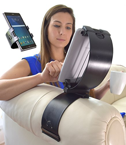 Clamp Champion Fits All Tablets & Smart Phones- Mounts to Sofa, Bed, Car, Leg, Kitchen, School, Plane, Visor, Glove Box