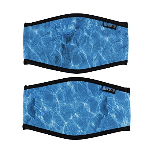 Bluecell 2pcs Ocean Pattern Neoprene Diving Mask Strap Cover (Ocean)
