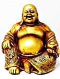 A Golden Happy Buddha (Laughing Buddha) Feng Shui for Money and Wealths